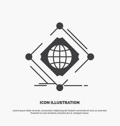 Complex global internet net web icon glyph gray vector