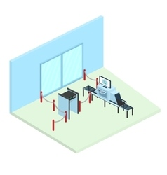 Control in airport Part of the interior vector image