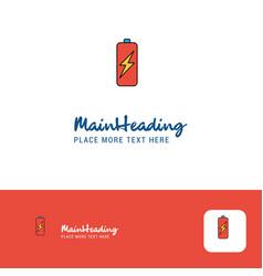 creative battery charging logo design flat color vector image