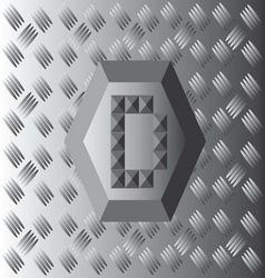 D Text Aluminium Wallpaper vector