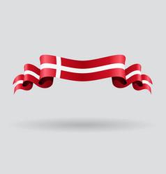 Danish wavy flag vector