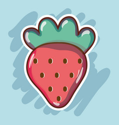 Delicious and fresh tropical strawberry fruit vector