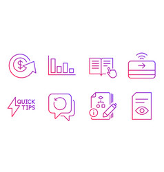 Dollar exchange algorithm and recovery data icons vector
