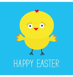 Easter chicken Blue background Card vector image