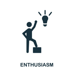 Enthusiasm flat icon colored sign from positive vector