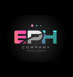 Eph e p h three letter logo icon design vector