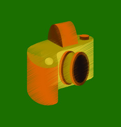 Flat shading style icon camera vector