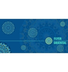 Flayer template design in blue color vector image