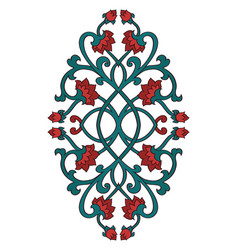 Floral medallion for design vector