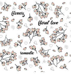 floral seamless pattern made of pink stylized vector image