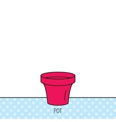 Flower pot icon Gardening ceramic container vector