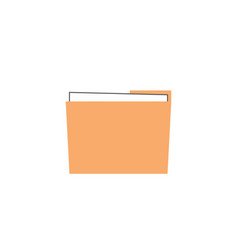 folder and office flat icon modern sign vector image