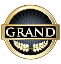 Grand gold label vector