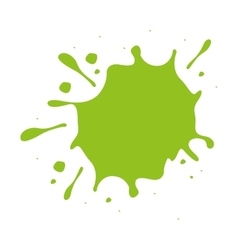 Green paint stain isolated icon design vector