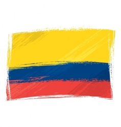 Grunge colombia flag vector
