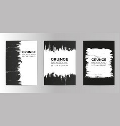 grunge hand drawn background set a4 format vector image