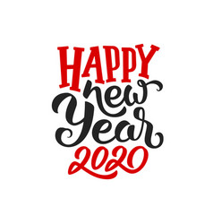 happy new year 2020 greeting card design vector image