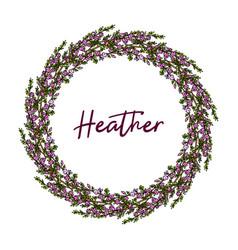 Heather wreath hand drawn vector
