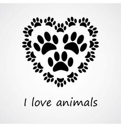 I love animals vector