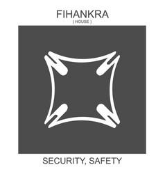 Icon with african adinkra symbol fihankra vector