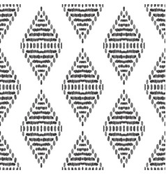 ikat seamless pattern design for fabric vector image