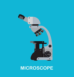 laboratory microscope machine vector image