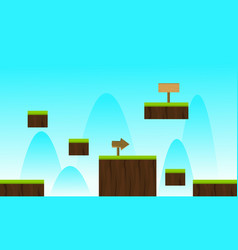 Landscape blue sky game background vector