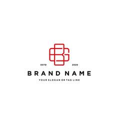 Letter bg logo design template vector