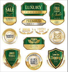 Luxury retro badge and labels collection 7 vector