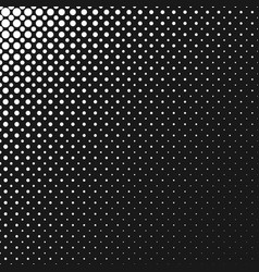 monochrome abstract repeating halftone circle vector image