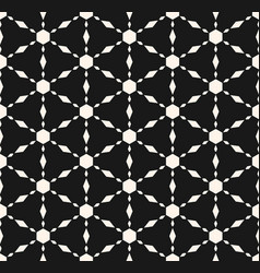 Monochrome seamless texture geometric pattern vector