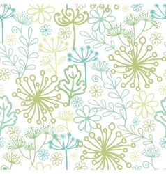Mysterious green garden seamless pattern vector