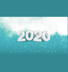 natural winter christmas background 2020 with sky vector image