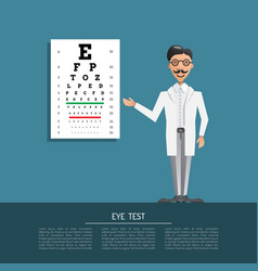 Ophthalmologist eye doctor vector