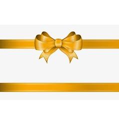 Orange ribbon and bow vector