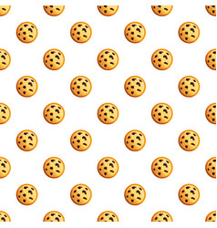 Peanut cookies pattern seamless vector
