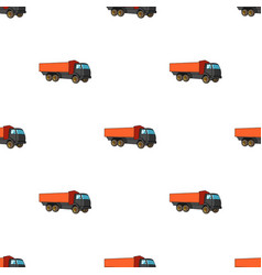 pickup rural truck tow auto truck with orange vector image