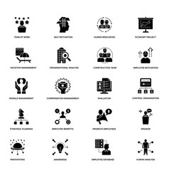 Project management glyph icons vector