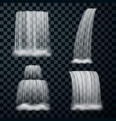realistic waterfall set vector image