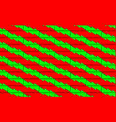 Red christmas background with green tree from vector