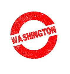 Rubber ink stamp washington vector