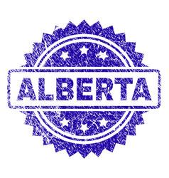 Scratched alberta stamp seal vector