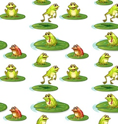 Seamless frogs vector