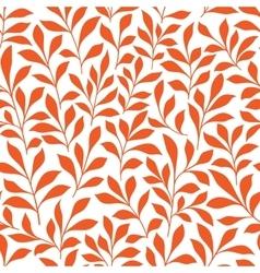 Seamless orange wild herbs pattern vector