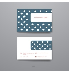 Set of Design Business Card Template in Presidents vector