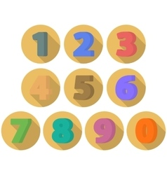Set of flat numbers vector
