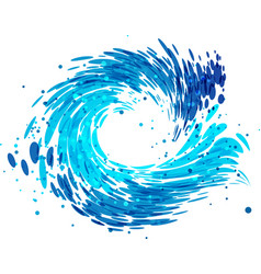 Splash round water vector