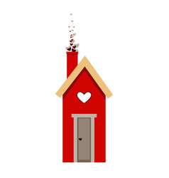 starling house nesting box love bird house icon vector image
