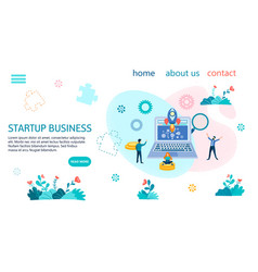 starup business banner concept vector image