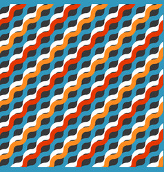 Striped modern color blocked print vector